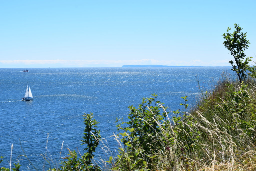 Udsigt over Østersøen og Møns klint i det fjerne