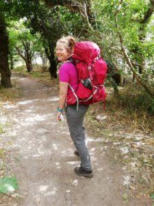 Anne Holt vandrer på Lagunestien