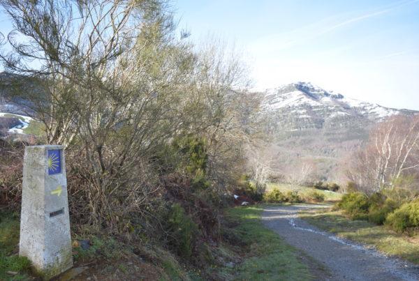 Billede af camino-sten i spanien